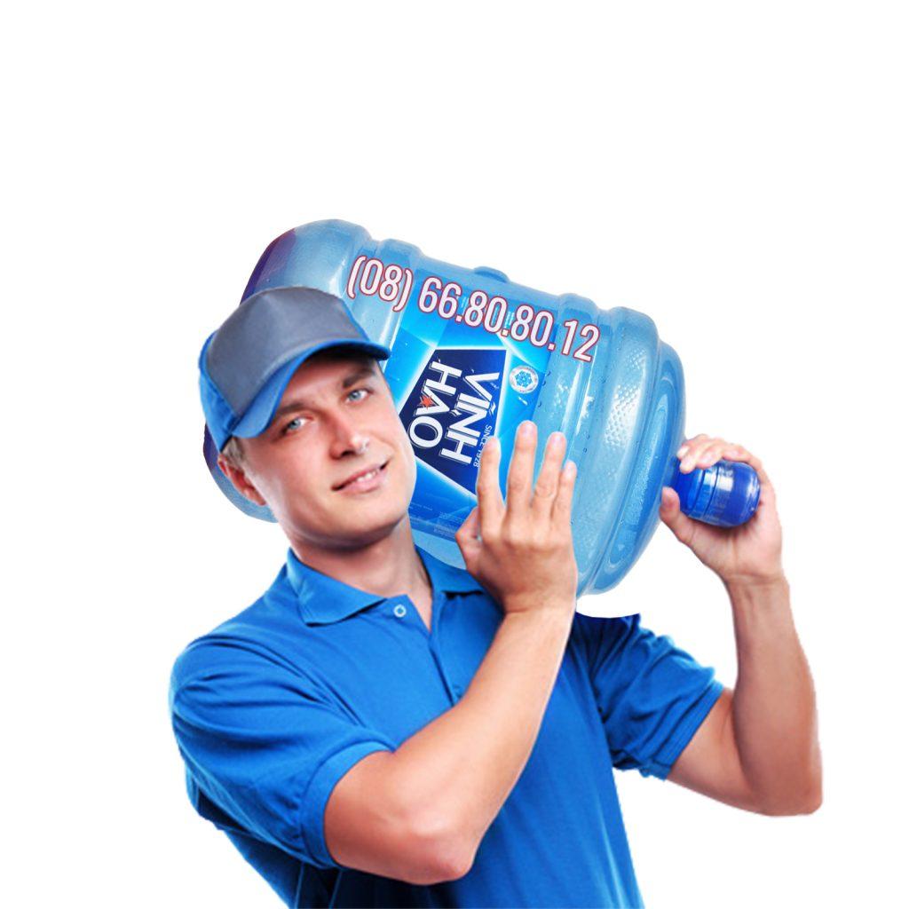 Giao hàng nước khoáng Vĩnh Hảo