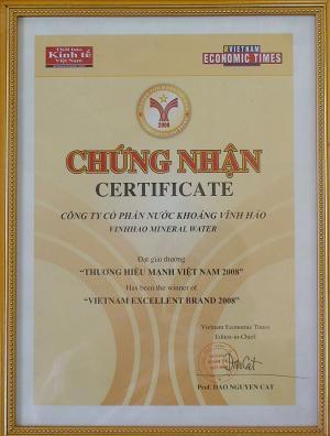Vĩnh Hảo Thương hiệu mạnh Việt Nam